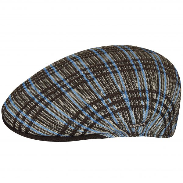 504 Rib Plaid Cap by Kangol 16RIB-PLAIDSBLU