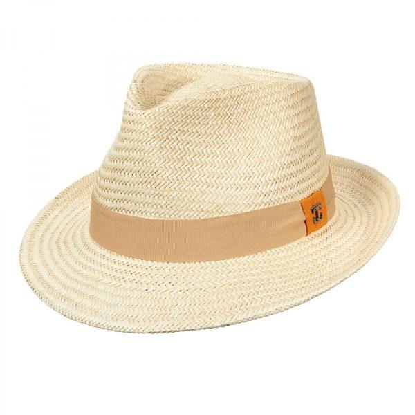 כובע סיב דקל עם סרט מאת סקאלה