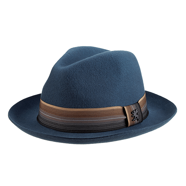 16a1cf24506 Wool Felt Pinch Front Fedora by Stacey Adams - SherlockS