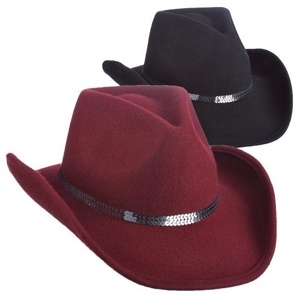 afd88c304 Wool Felt Western Hat by Scala