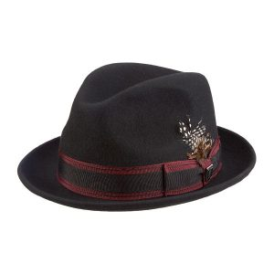 b54fd3c09f7911 Pinch Front Fedora by Stacy Adams