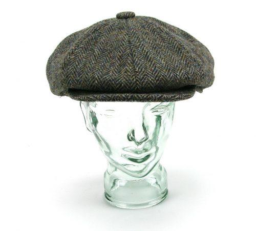 """כובע טוויד בסגנון """"מחלק עיתונים"""" (Newsboy) / גטסבי, תוצרת גלנקרופט"""