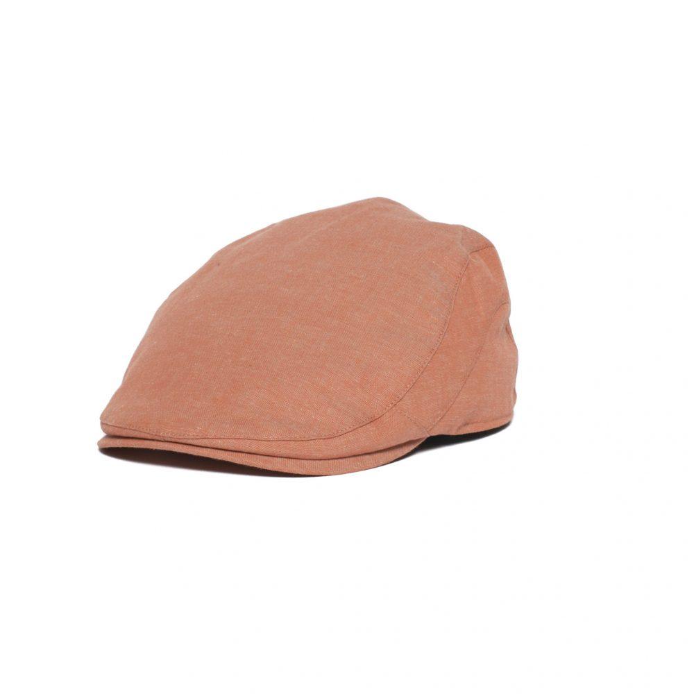 breezy-flat-cap-by-goorin-bros-in-peach-orange-unisex-cap-summer-collection-sherlockshats.com