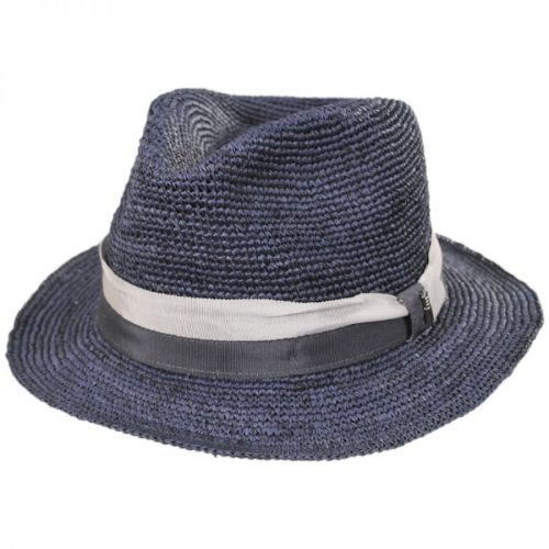 Matteo Corcheted Raffia Fedora by Brooklyn Hat Co.