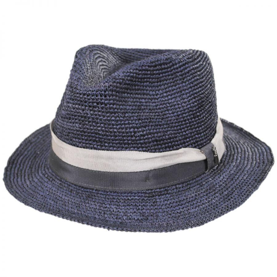 832eeb2a0aa592 Matteo Corcheted Raffia Fedora by Brooklyn Hat Co. - SherlockS