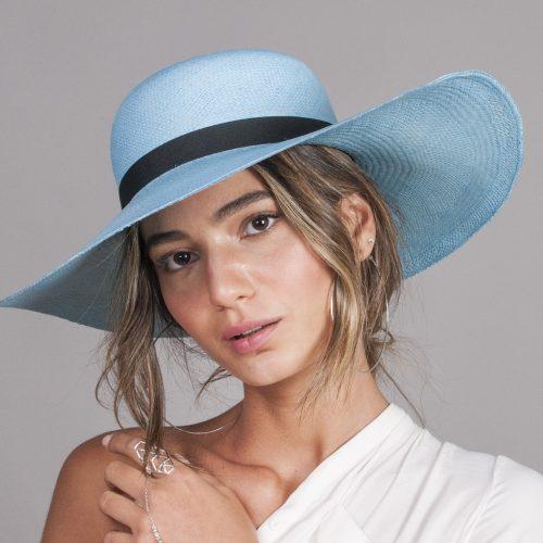 cocadamo-panama-wide-brim-by-sherlocks-panama-hat-natural-ecuadorian-straw-in-blue-and-pink-with-black-ribbon-womens-summer-collection