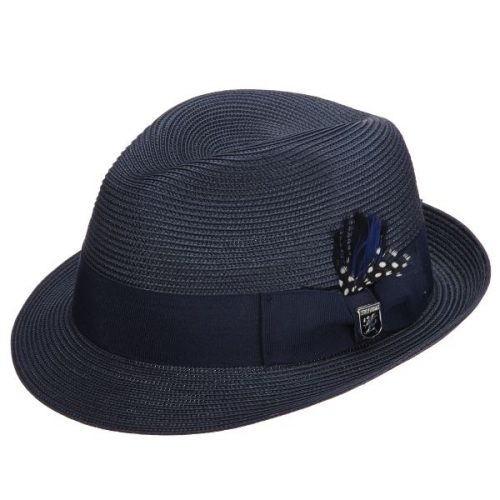 Belmont Straw Fedora by Stacy Adams