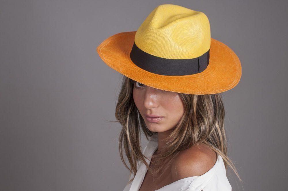 dos-tonos-panama-fedora-by-sherlocks-two-toned-panama-hat-natural-straw-lightweight-in-yellow-and-orange-with-black-ribbon-sherlockshats.com