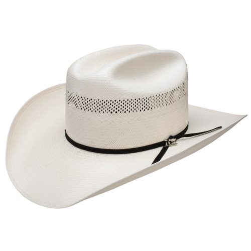 faith-cattleman-stetson-classic-hard-straw-cowboy-hat-in-white-black-ribbon-with-pin-vented-crown-men-womens-summer-collection-sherlockshats.com