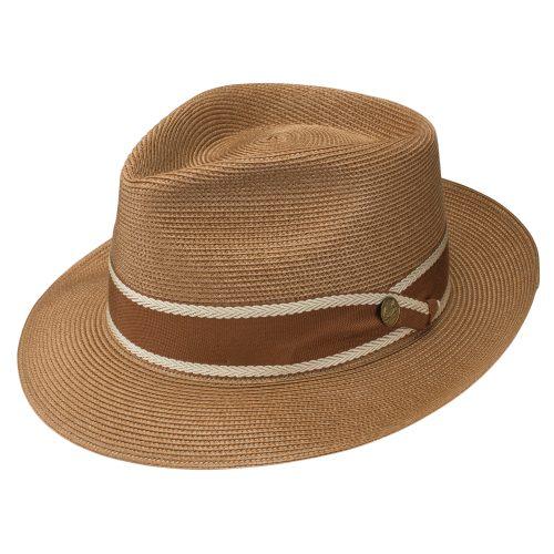 creve-coeur-milan-fedora-by-stetson-brown-straw-with-ribbon-mens-womens-summer-hat-medium-brim-sherlockshats.com