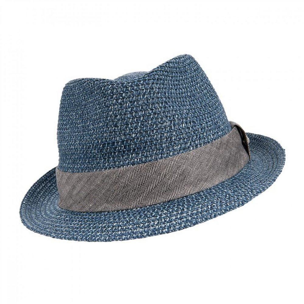 reidton-trilby-by-stetson-in-blue-black-and-straw-colors-short-brim-viscose-trilby-hat-mens-womens-summer-hat-sherlockshats.com