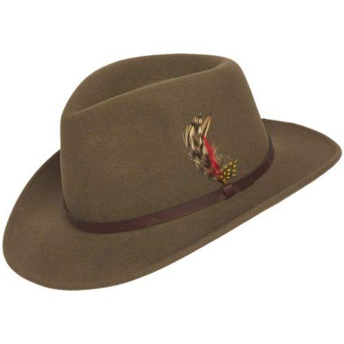 Outback Lite Felt Wool Crushable Hat by Capas Headwear