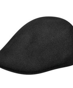 507-wool-cap-by-kangol-black-classic-flat-cap-mens-summer-and-winter-collection-sherlockshats.com