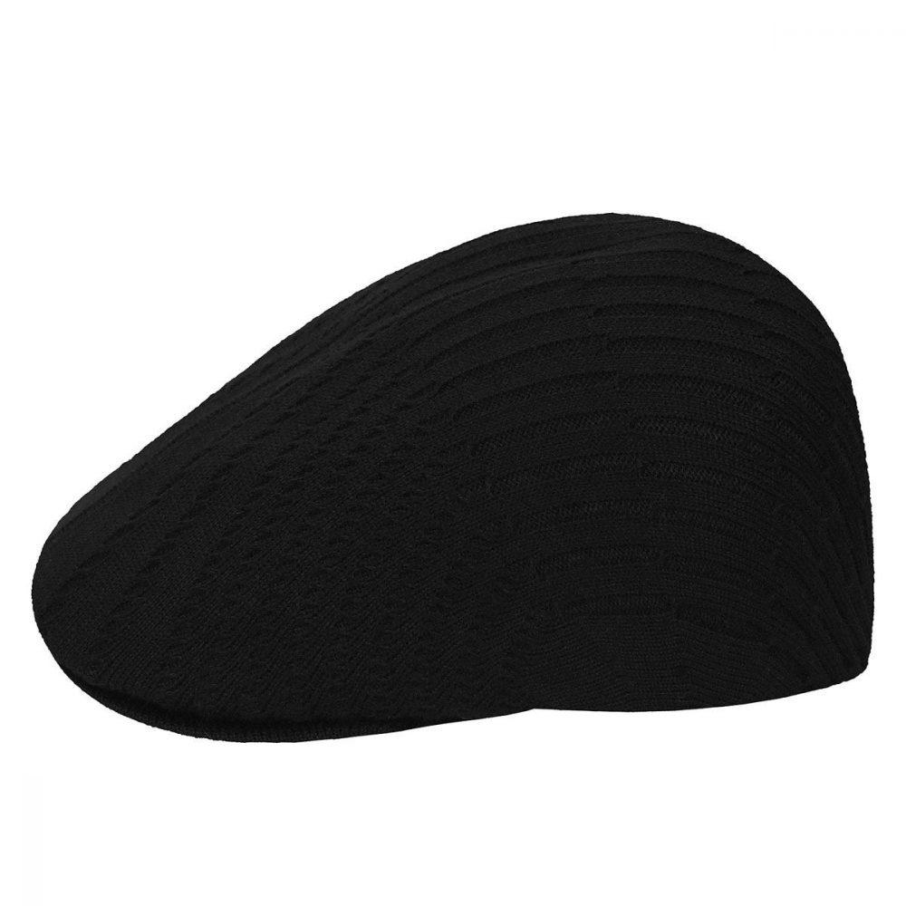 beam-rib-507-cap-by-kangol-black-flat-cap-mens-winter-summer-507-kangol-cap-sherlockshats.com