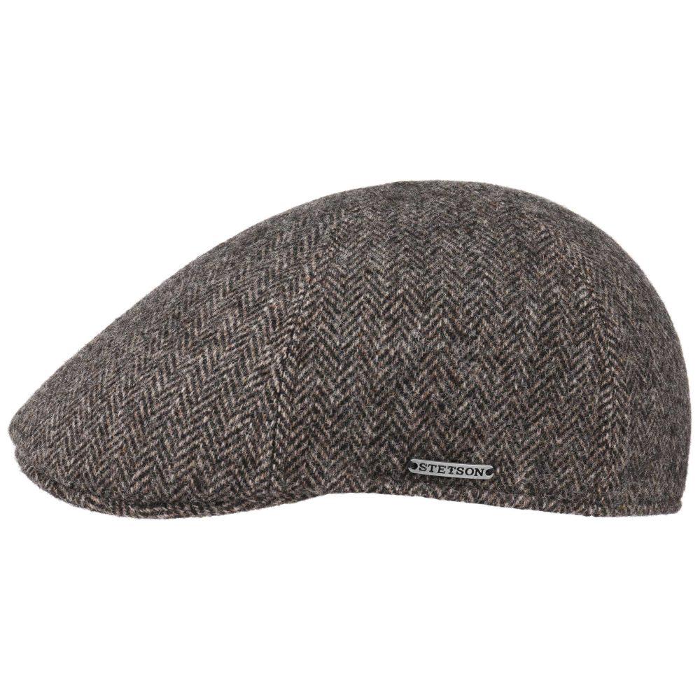texas-herringbone-cap-by-stetson-wool-flat-cap-mens-womens-winter-hat-brown-sherlockshats.com