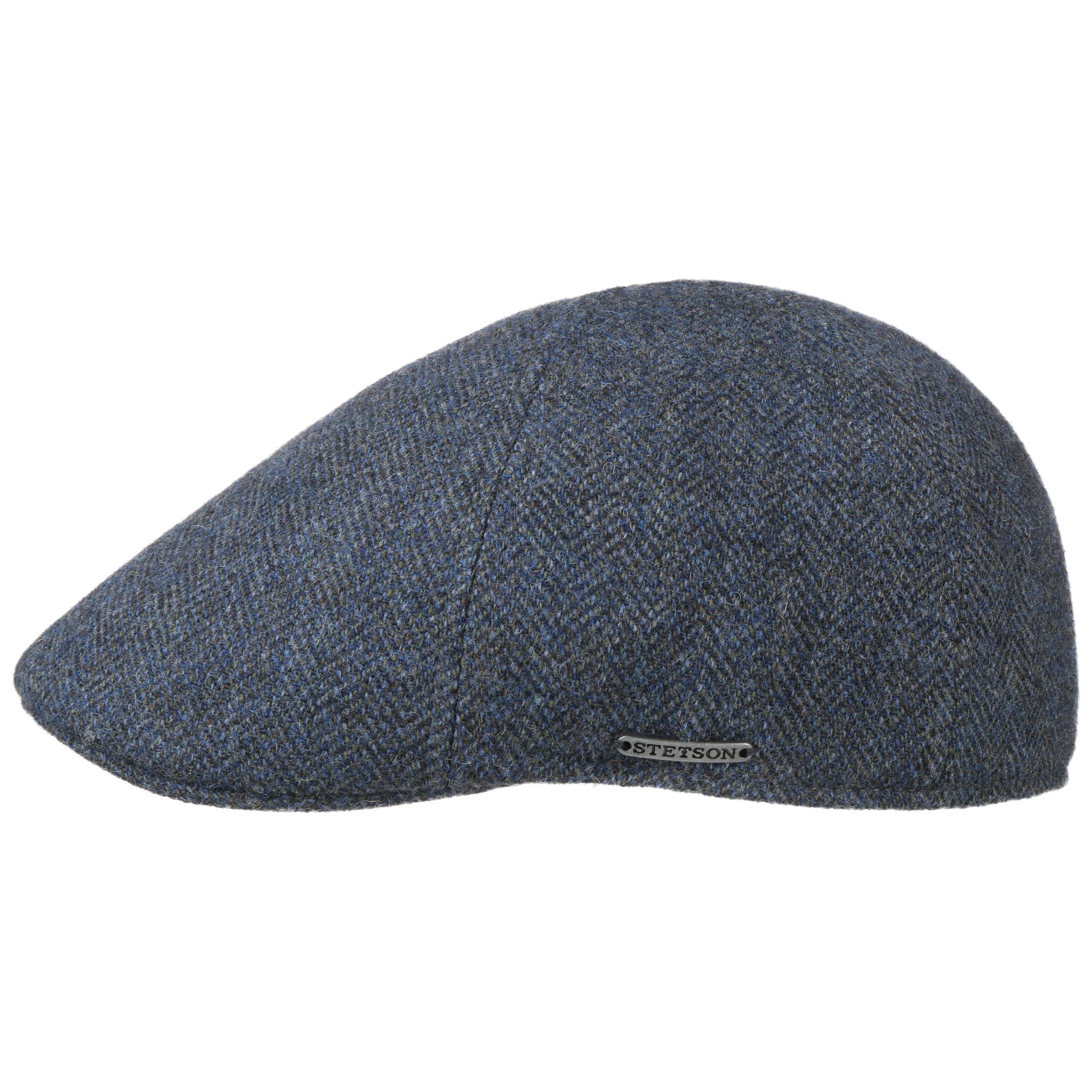Made in The EU Winter Flat hat with Peak Stetson Texas Wool Herringbone Cap Men Lining Autumn-Winter