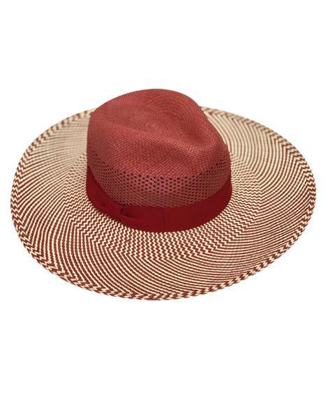 grandeur-panama-hat-by-sherlocks-in-red-and-black-handwoven-ecuadorian-straw-wide-brim-womens-sun-hat-summer-collection-sherlockshats.com