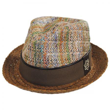 mosaic-summer-fedora-by-carlos-santana-short-brim-mens-sherlockshats.com