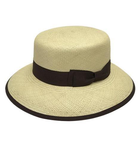 queen-by-sherlocks-round-crown-medium-brim-straw-panama-hat-for-women-in-natural-beige-with-brown-ribbon-light-blue-or-white-womens-sun-hat-sherlockshats.com