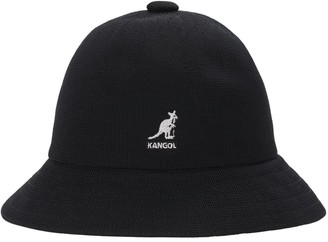 tropic-casual-black-bucket-hat-by-kangol-hats-with-short-brim-rounded-crown-sherlockshats.com-polyester-material-summer-womens-mens-bucket-hat