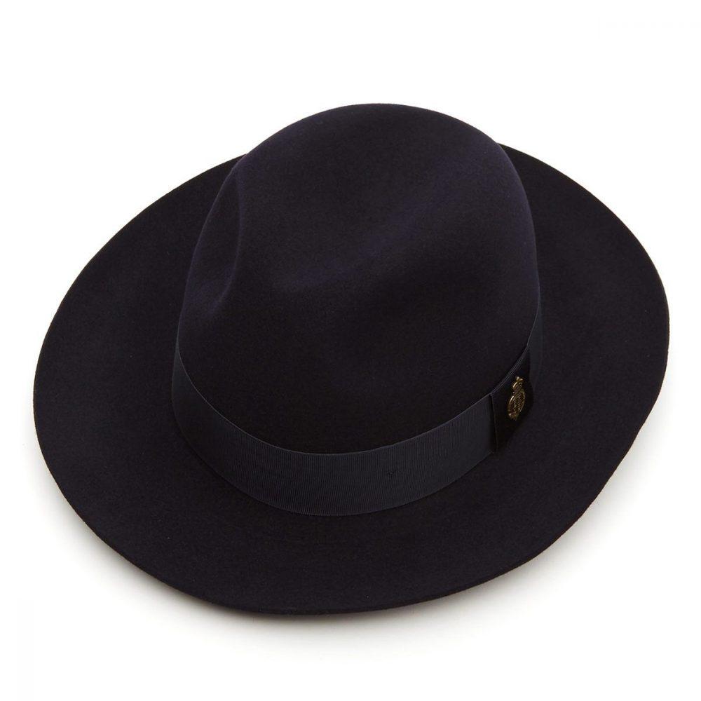 Montefiore-Fur-felt-fedora-in-navy-medium-brim-christys-winter-mens-hat-sherlockshats.com