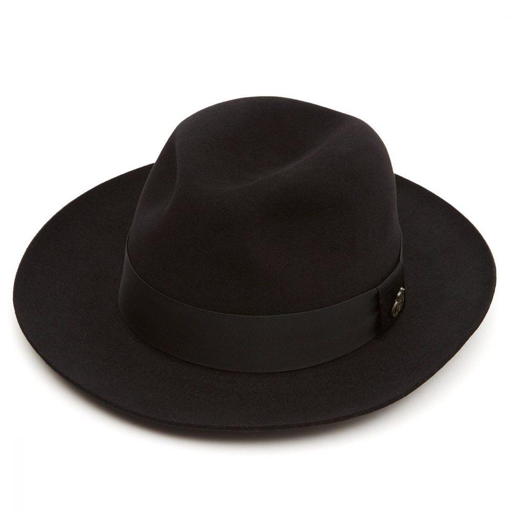 Montefiore-fur-felt-fedora-by-christy's-in-black-medium-brim-winter-mens-hat-sherlockshats.com