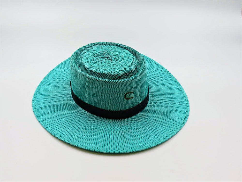 guardian-straw-flat-top-hat-by-stetson-womens-robins-blue-hat-wide-brim-upf-protection-black-ribbon-shop-at-sherlockshats.com