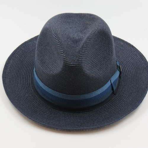 side-eye-milan-straw-fedora-by-dobbs-in-navy-and-light-blue-mens-summer-straw-hat-fedora-shop-at-sherlockshats.com